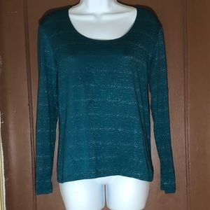 Chicos size 0 green long sleeve blouse